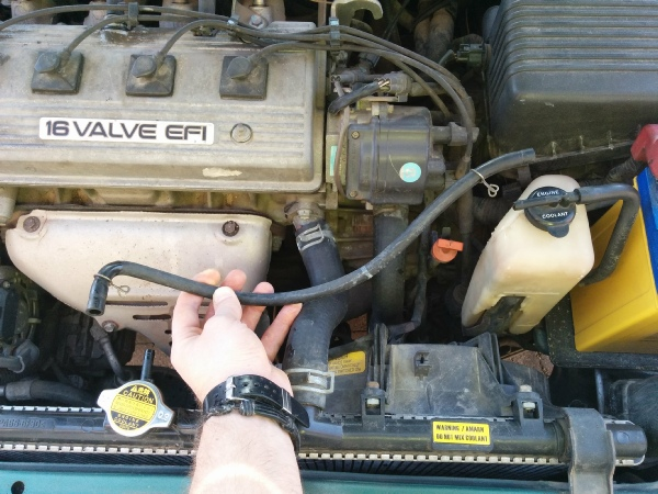 Blocked radiator hose