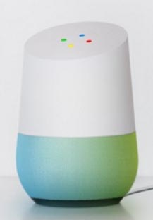 google home white green blue