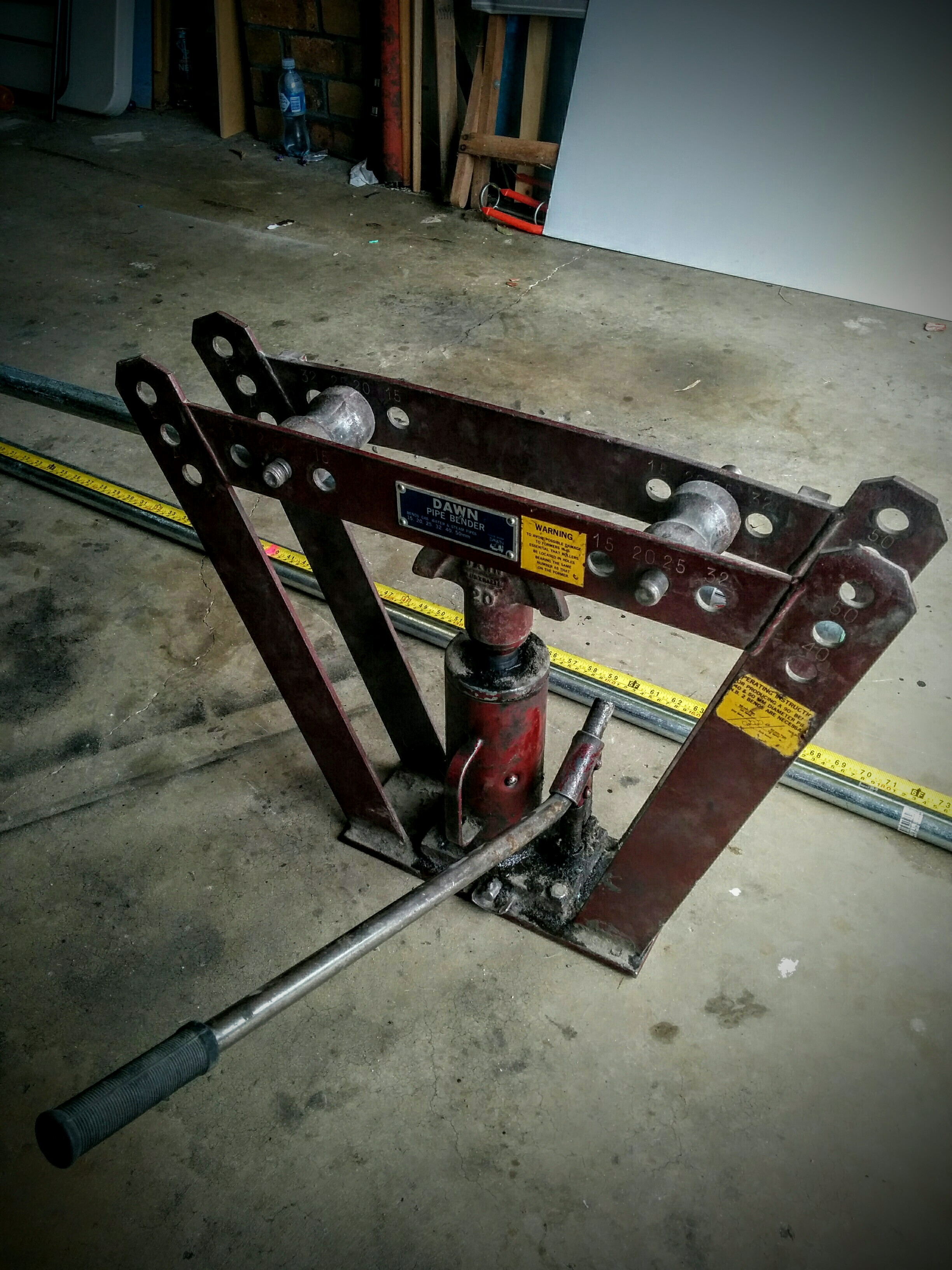 Diy spa cover lifter home made for metal conduit frame