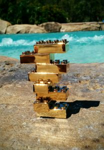 solid gold lego brick for sale