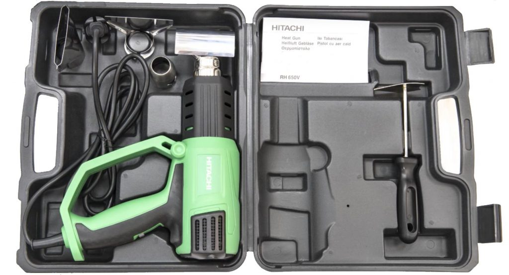 Hitachi RH650V Variable Temperature Heat Gun with LCD Display case