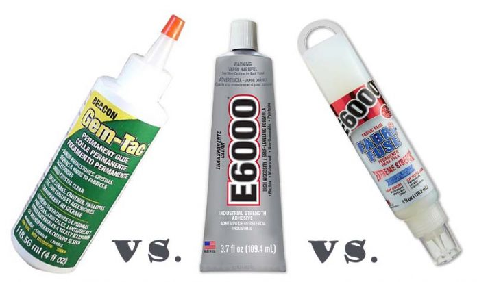best fabric glue e6000 vs gem tac