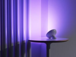 Philips Hue Bloom lamp on wall