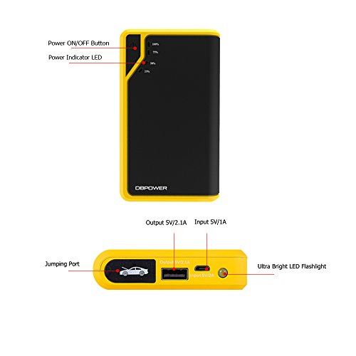 ultra compact small dbpower 8000mah booster pack