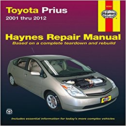 toyota prius repair workshop manual 2001-2012