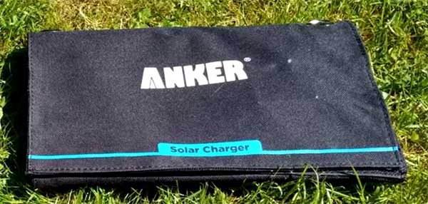 anker solaer usb portable charger folded up 21w