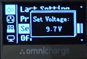 omnicharge change display settings