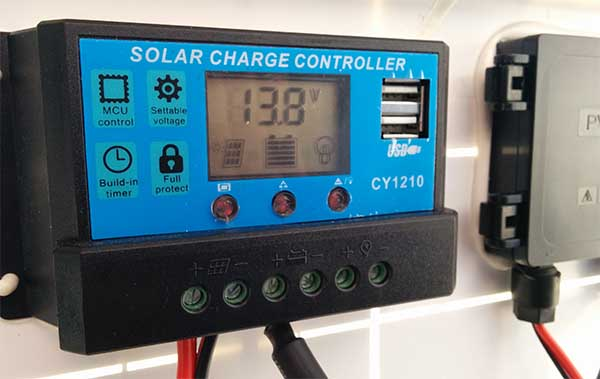 digital LCD display solar charge controller CY1210