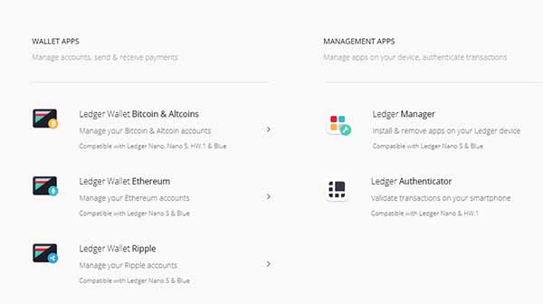 ledger nano sxrp apps download