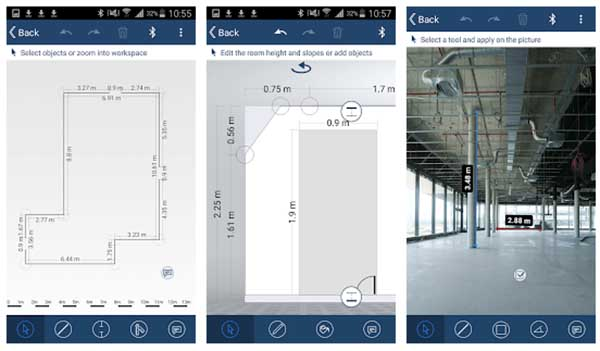 Android app for Bosch bluetooth laser measurement device