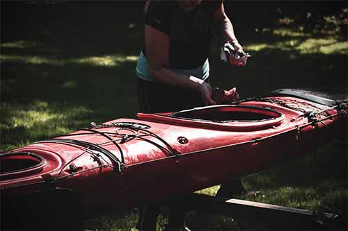 Kayak storage ideas outside