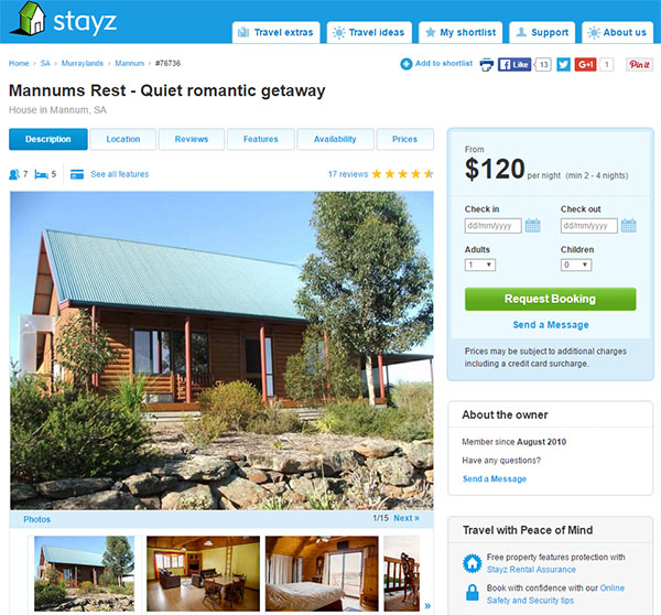 holiday home rental