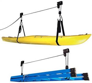 rad kayak hoist system ladder storage