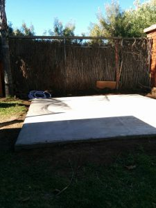 Spa slab concrete base