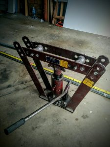 Spa cover lifter pipe bender galvanised DIY Dawn