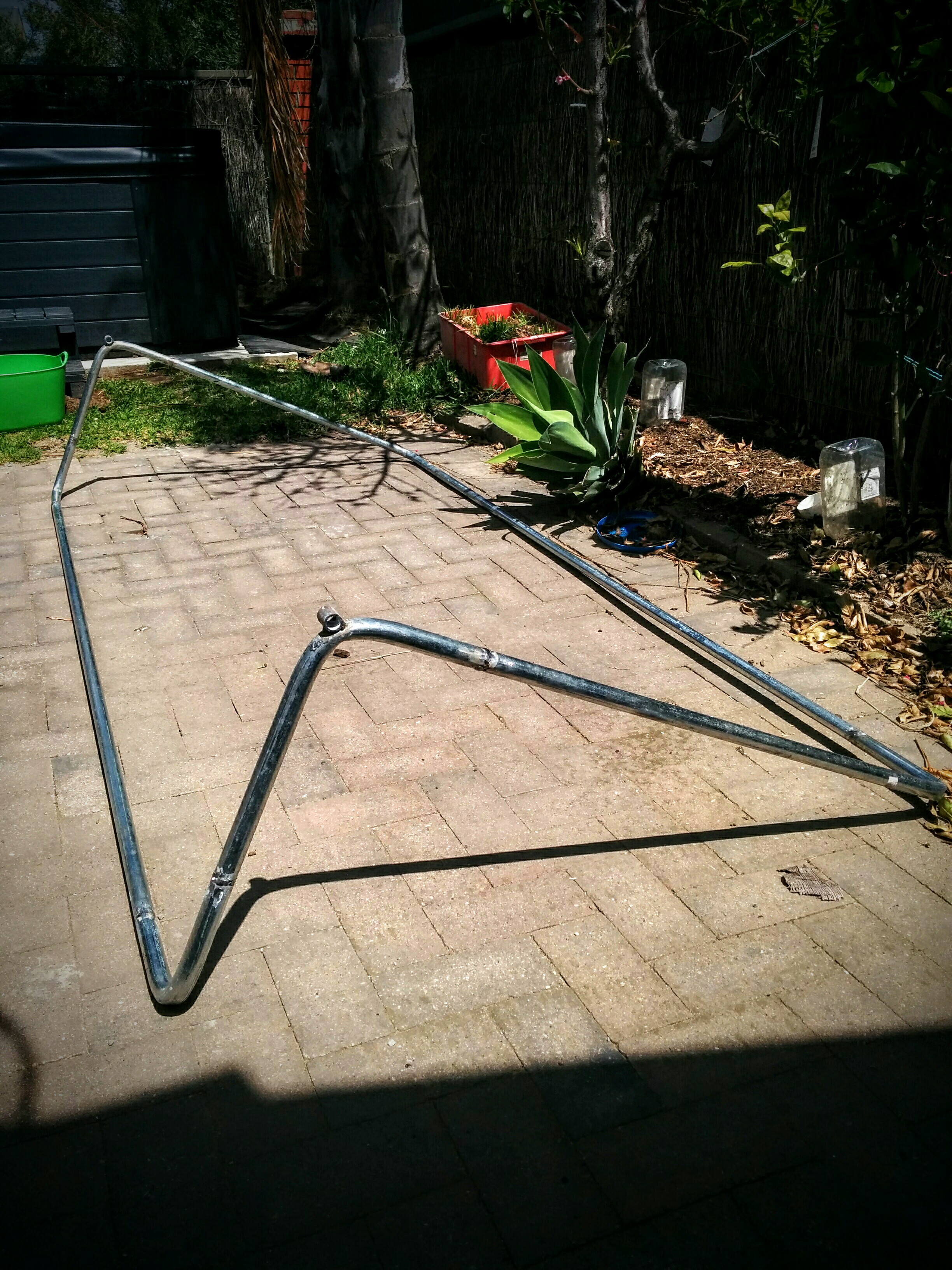 DIY Spa Cover Lifter Home Made for $50 Metal Conduit Frame - Not Sealed