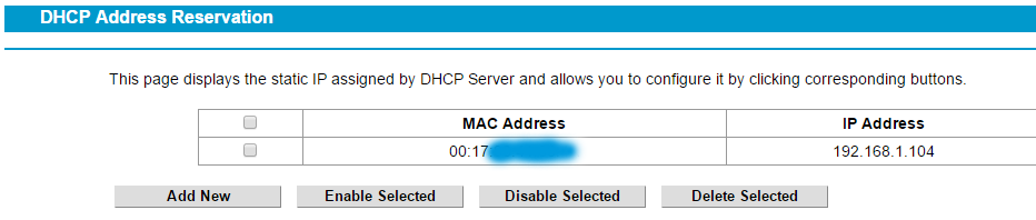 Philips HUE IP dhcp reservation mac address tplink notsealed