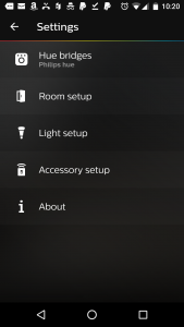 philips hue motion sensor settings