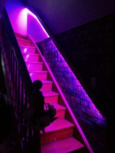 stair color lights motion activated