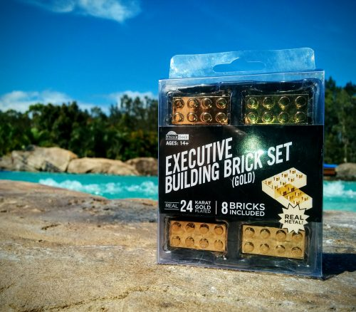 gold lego brick Executive Building Brick Set