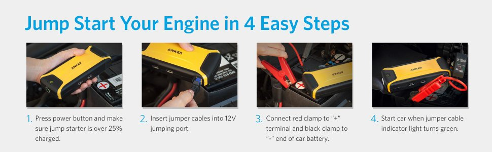 lithium ion jump starter procedure