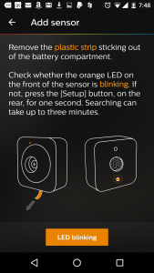 philips hue motion sensor setup orange led