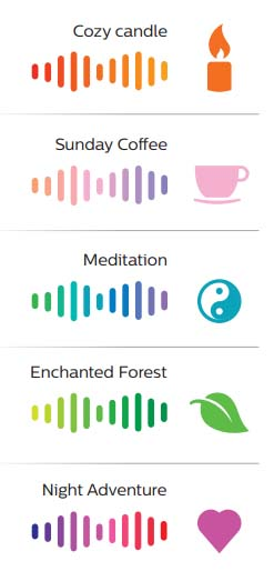 Philips Hue Go Colors Cozy candle Sunday Coffee Meditation Enchanted Forest Night Adventure