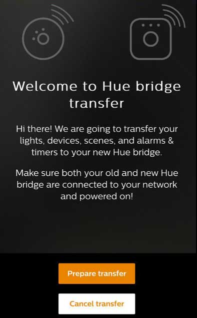 philips hue bridge transfer instructions 1 vs 2