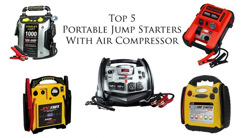 Best Portable Jump Starter With Air Compressor Top 5 Reviewed 2018