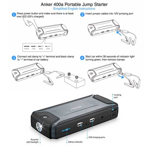 anker ultra jump starter instructions