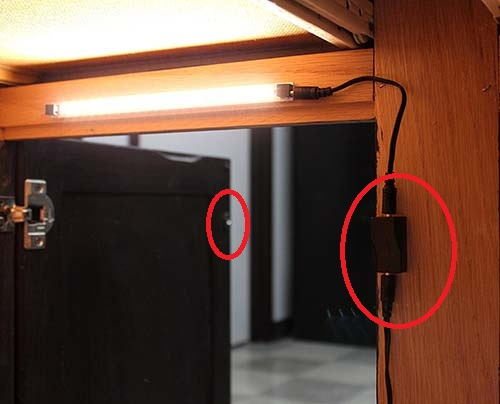 Magnetic Switch - Inspired LED - Use for Stage Cabinet lights - Under cabinet lighting - kitchen
