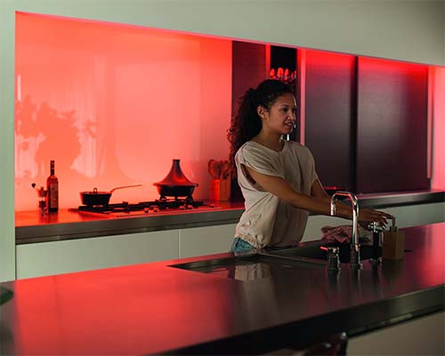 Philips hue kitchen light strips