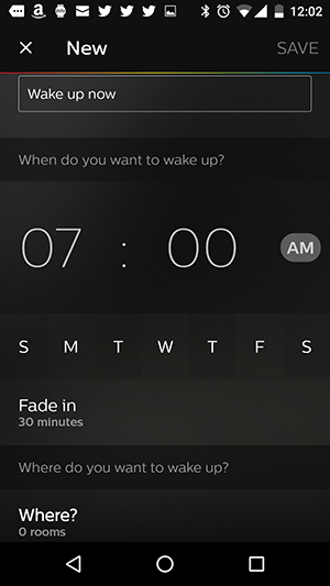 Philips hue wake up time settings