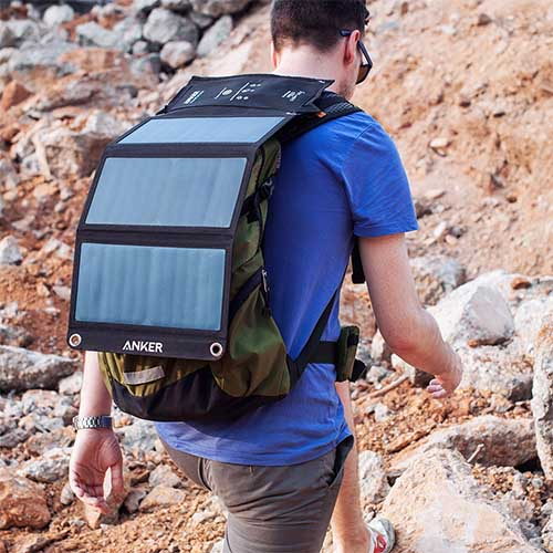 Anker hiking solar panel backpack charger