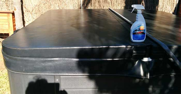 How to Clean Vinyl Hot Tub Cover using 303 Aerospace Protectant ...