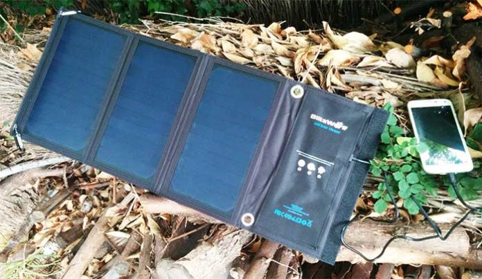 blitzwolf foldable portable sunpower solar panel charger