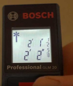 bosch digital tape measure glm20 feet inches meter