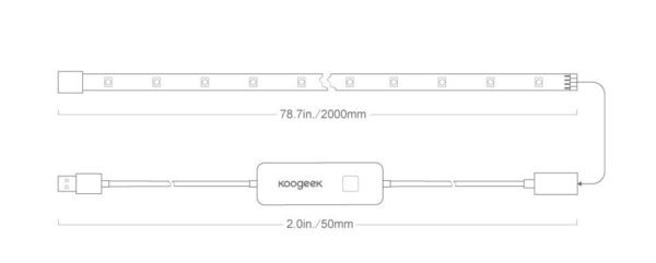 koogeek Smart USB LED Light Strip specifications