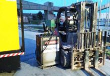 portable diesel fuel transfer pump forklift