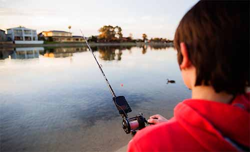 castable portable fish finder reviews lake fishing young boy