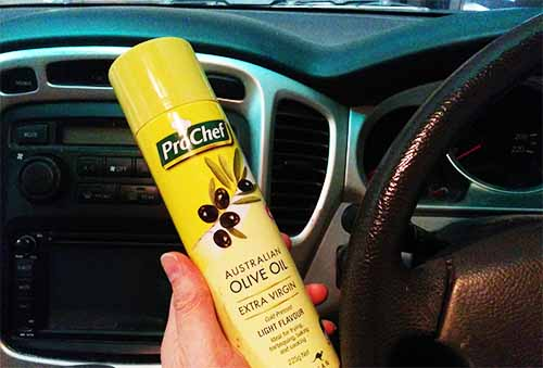 DIY Interior Car Hacks and Mods olive oil for dashboard