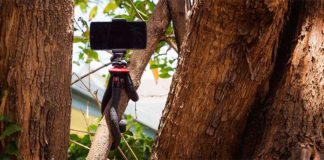 iphone tripod with remote