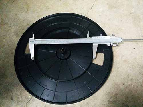 measure turntable platter for drive belt