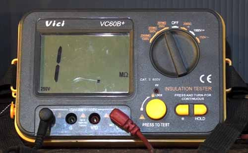 insulation tester for electrician megger
