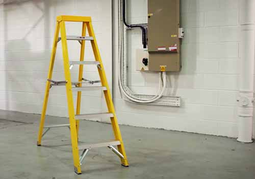 insulated step ladder fibreglass