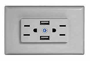 America ac wall outlet with usb charging port
