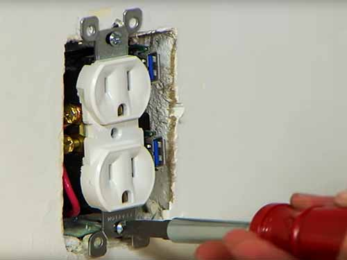 How to install attach wall outlet to an internal room wall