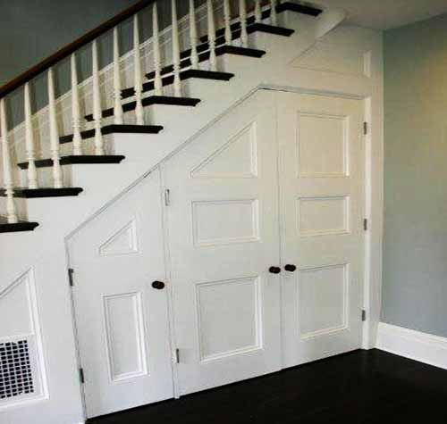 Home Renovation Ideas on a Budget under stair storage