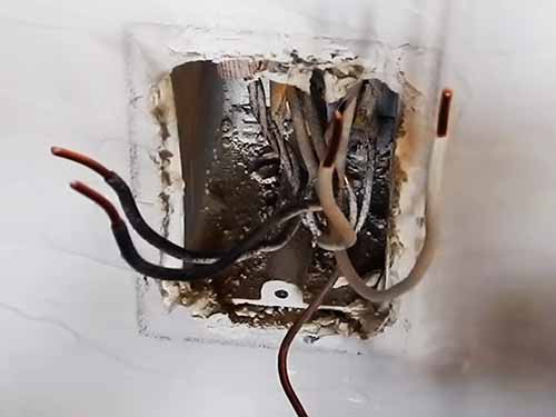 how to install a power outlet that has burnt out