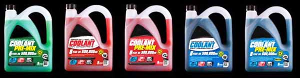 different types of coolant for MT07